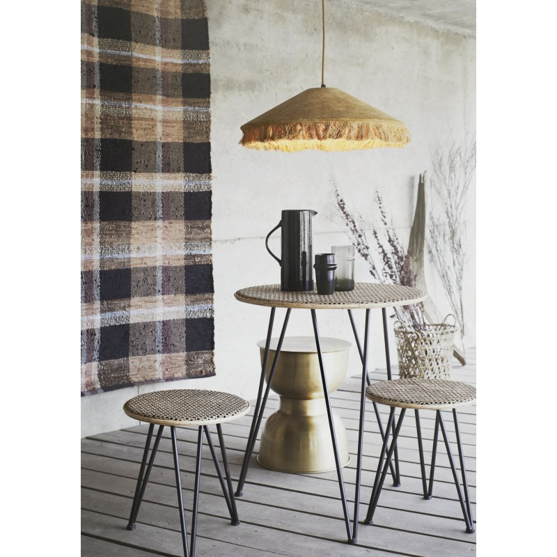 Rattan table w/ stools