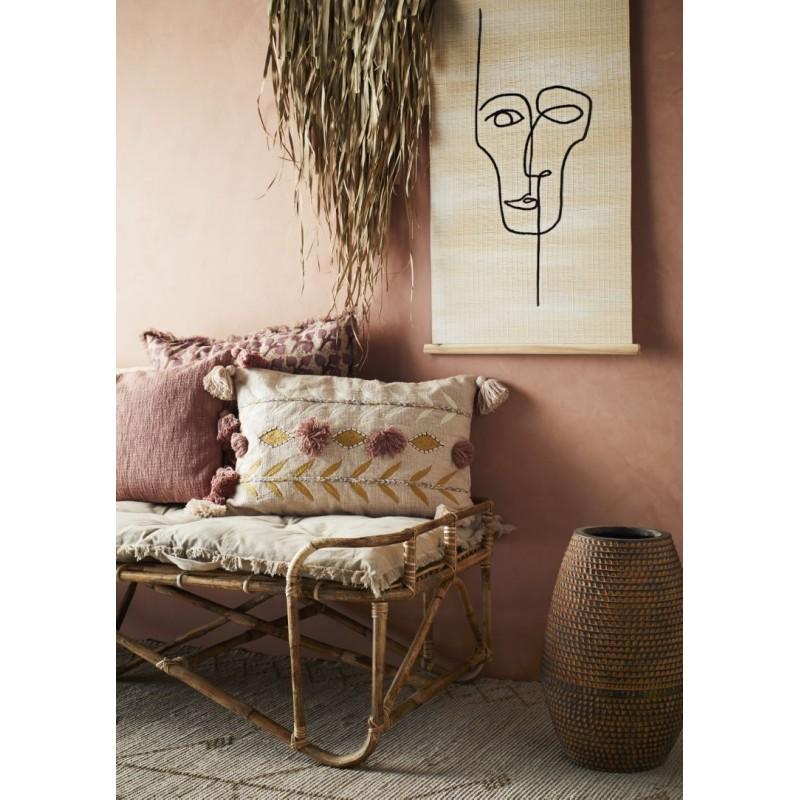 Cushion cover w/ tassels