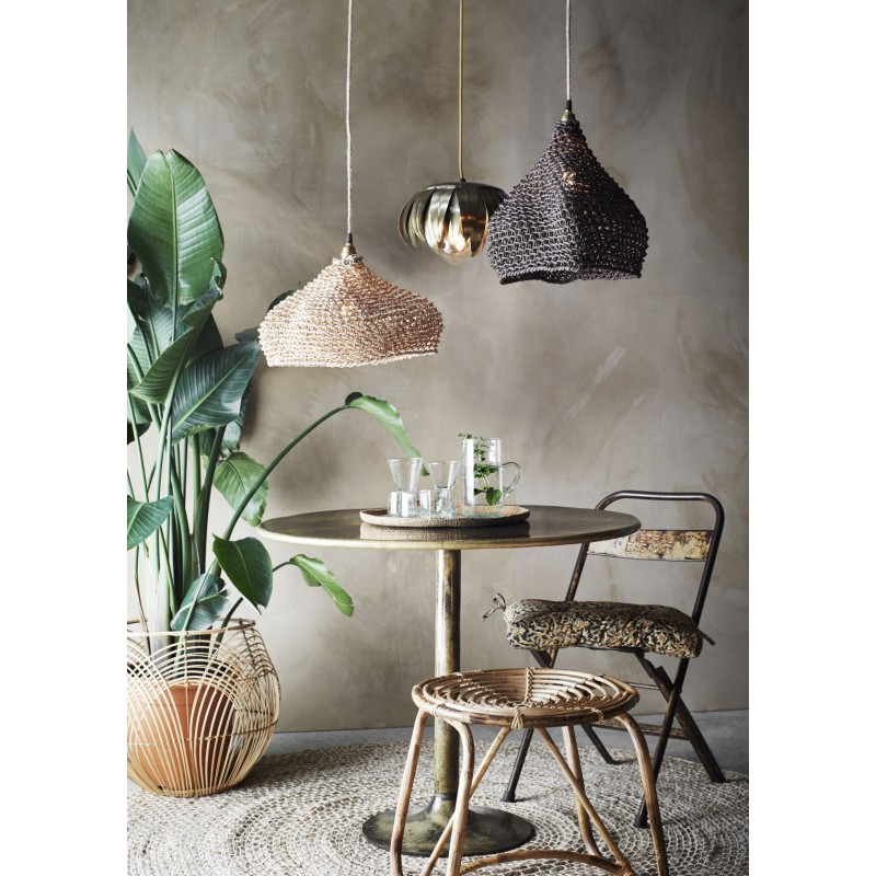 Paper rope lamp shade
