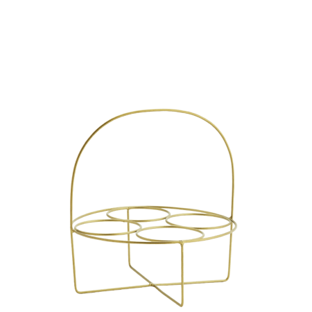 Round glass rack w/ handle