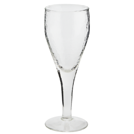 Hammered white wine glass