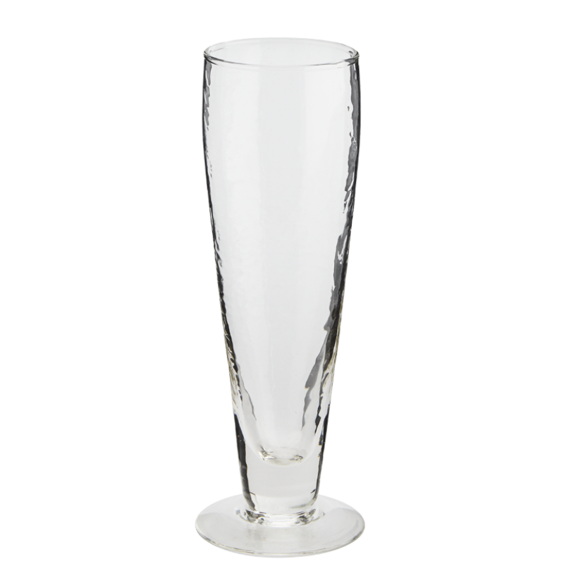 HAMMERED BEER GLASS