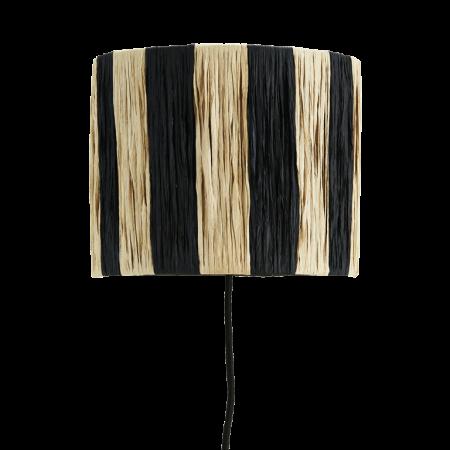 Raffia wall lamp