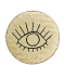 Bamboo tray w/ handpainted eye