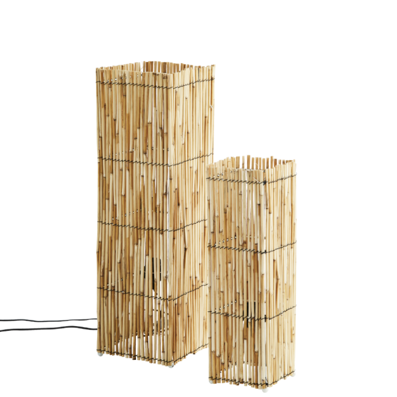 Squared standing reed lamps