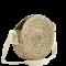 Round straw bag w/ cotton strap