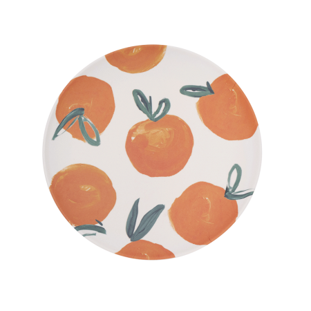 Plate Bamboo Sicilian Summer Orange