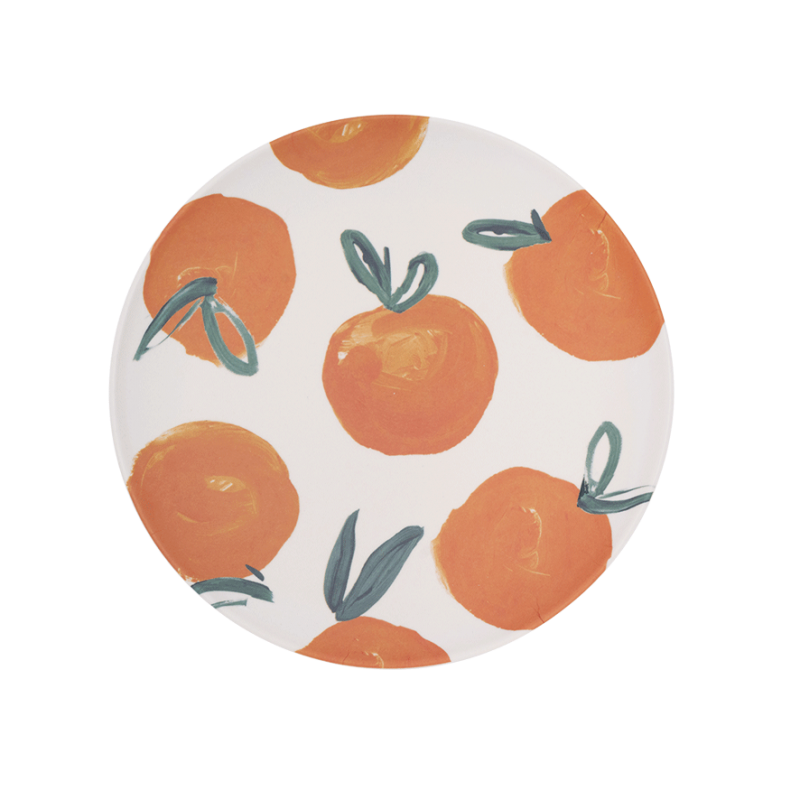 Plate Bamboo Sicilian Summer Orange