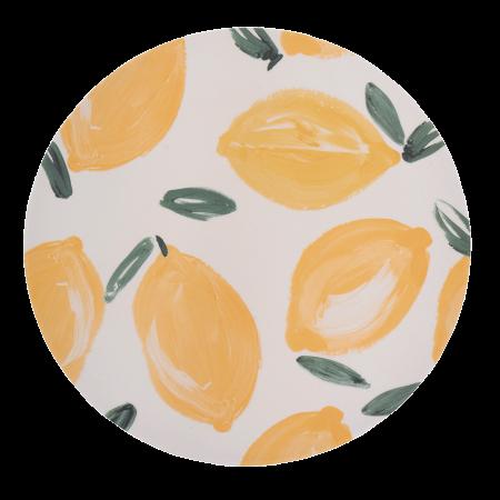 Plate Bamboo Sicilian Summer Lemon