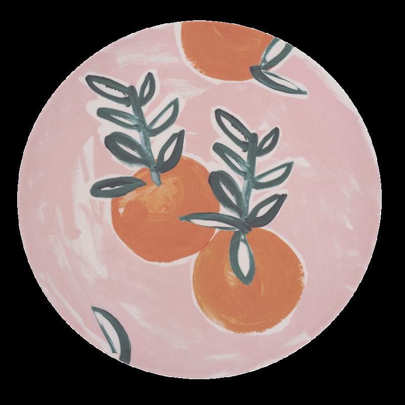 Πιάτο Μπαμπού Sicilian Summer Pink Orange