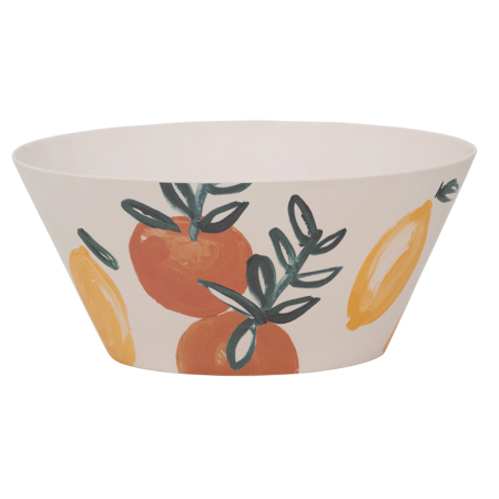 Salad Bowl Bamboo Sicilian Summer Lemon Orange