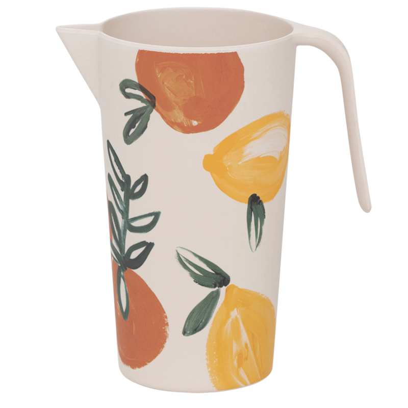 Pitcher Bamboo Sicilian Summer Lemon Orange