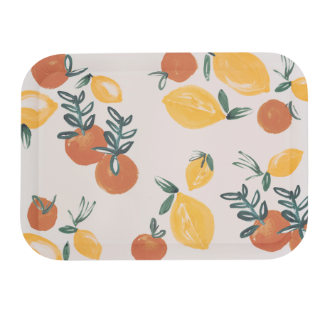 Serving Tray Bamboo Sicilian Summer Lemon Orange