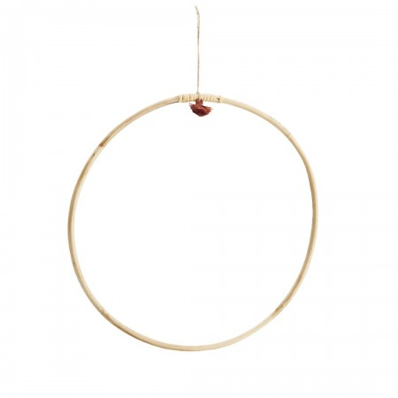 Hanging bamboo ring