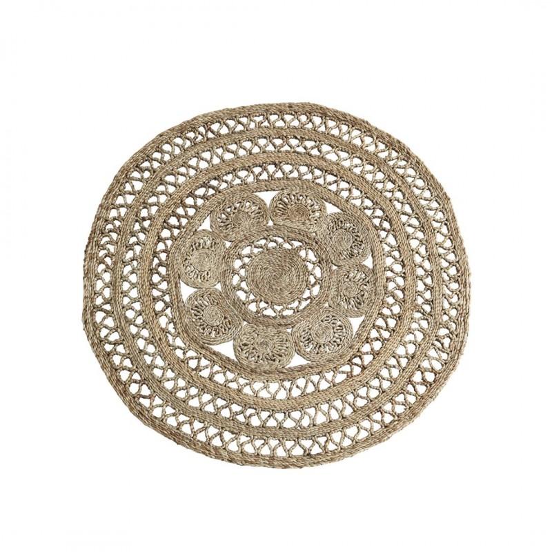 Round jute braided rug