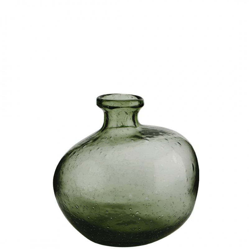 Organic shaped glass vase