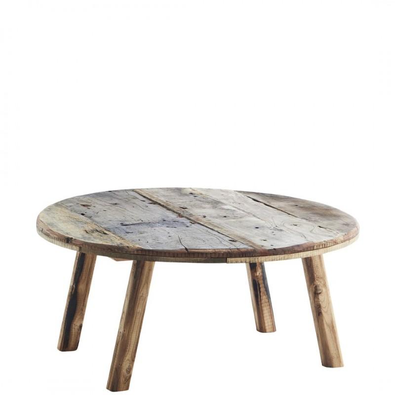 Στρογγυλό Ξύλινο Τραπέζι Καθιστικού