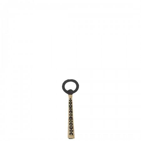 Iron bottle opener w/ cane