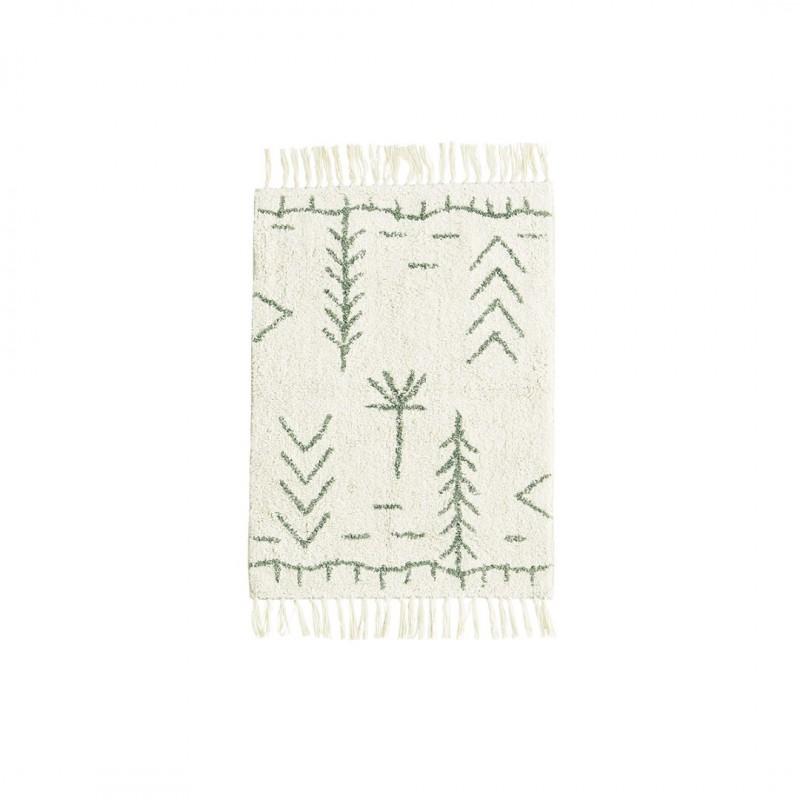 Tufted cotton bath mat