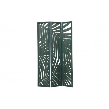 Harper folding screen wood warm green