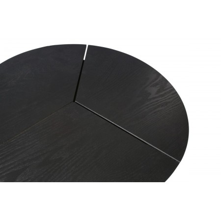 Rodi coffee table m wood/metal black 38xØ48