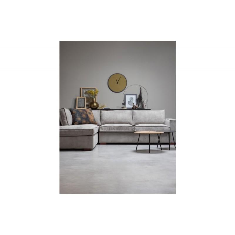 Rodi coffee table L wood/metal brown 38xØ60