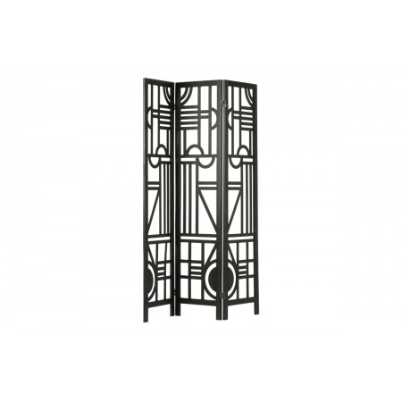 Hera folding screen wood black