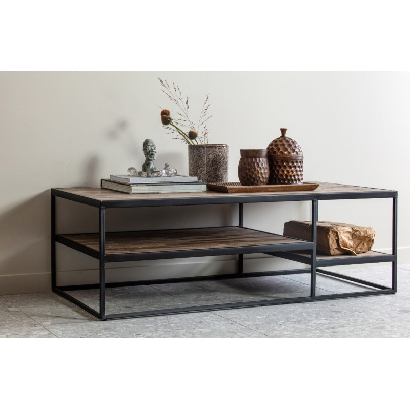 Vic coffee table wood/metal 120x60