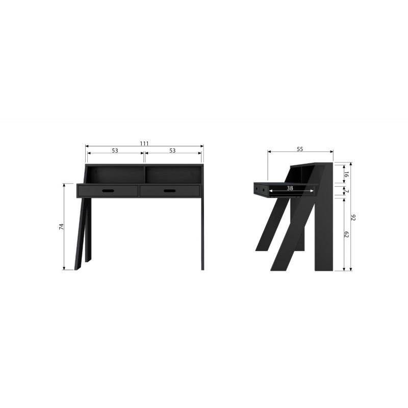 Connect desk black [fsc]