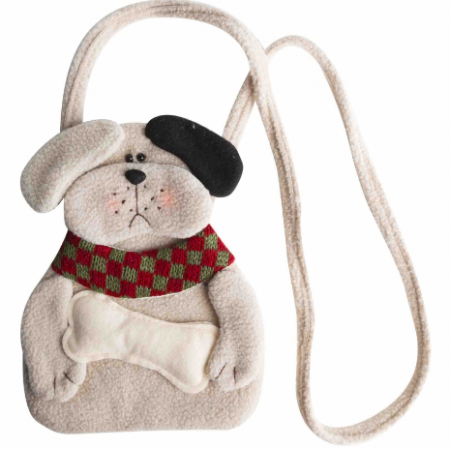Shoulder bag with dog and bone