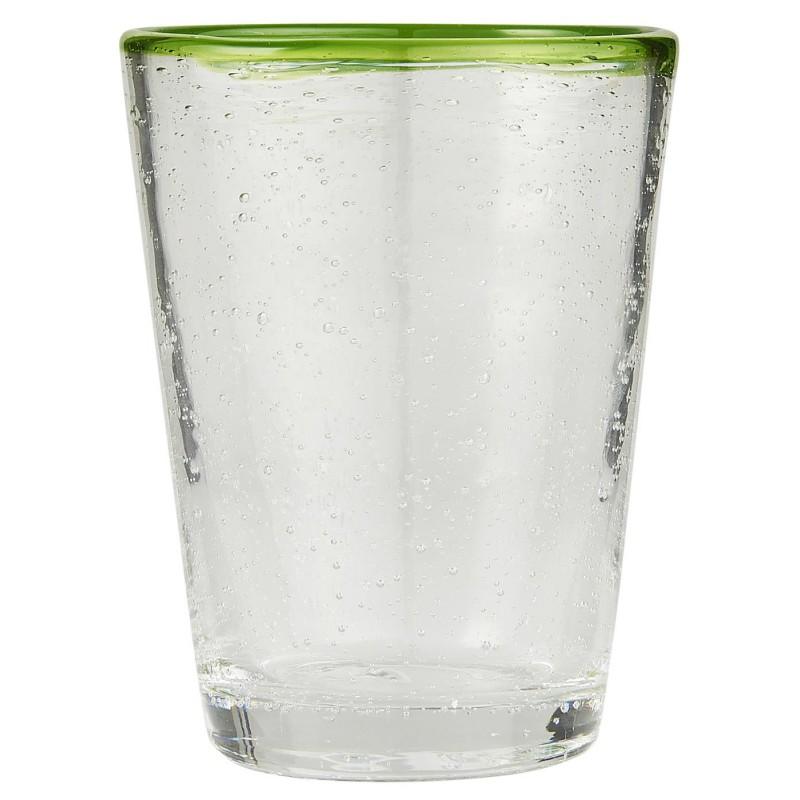 Ποτήρι νερού με πράσινη γραμμή από φυσητό γυαλί