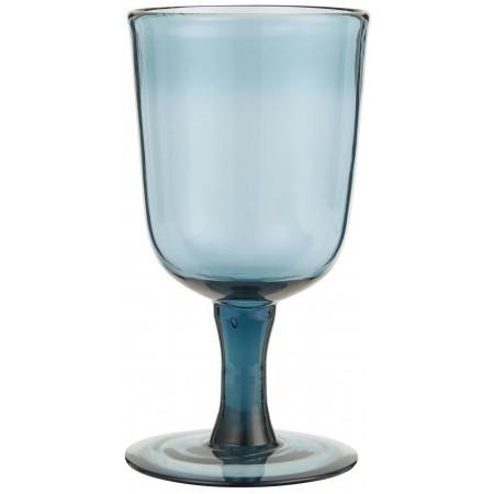 Ποτήρι κόκκινου κρασιού μπλε