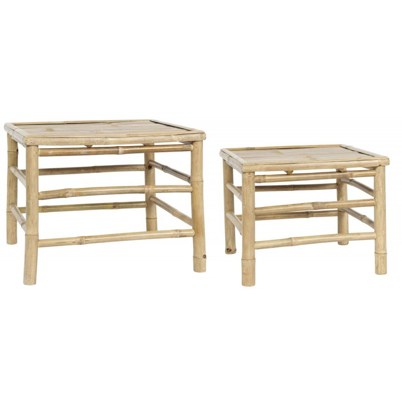 Side Table set/2 square bamboo