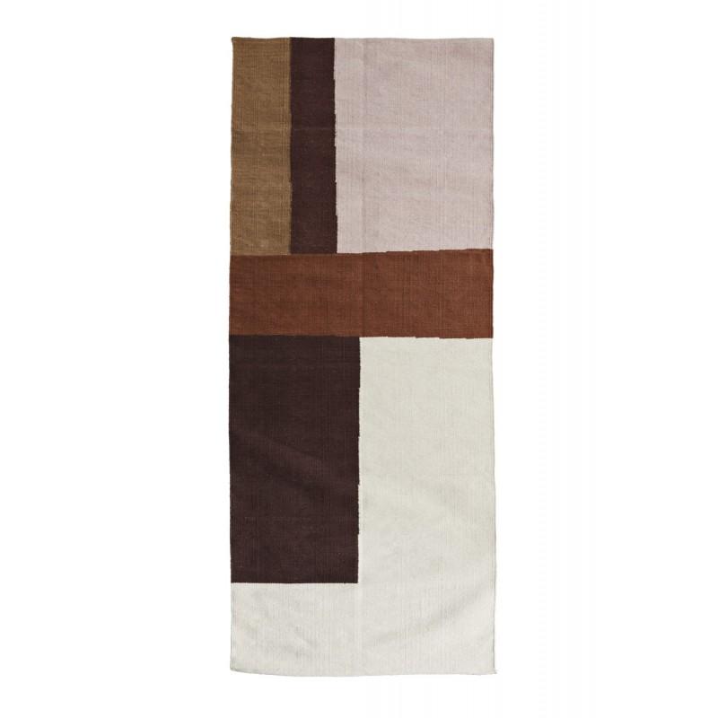 Hand woven cotton rug