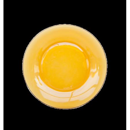 Πιάτο γυάλινο κίτρινο