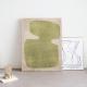 Wall deco silk minimalism, green eyes