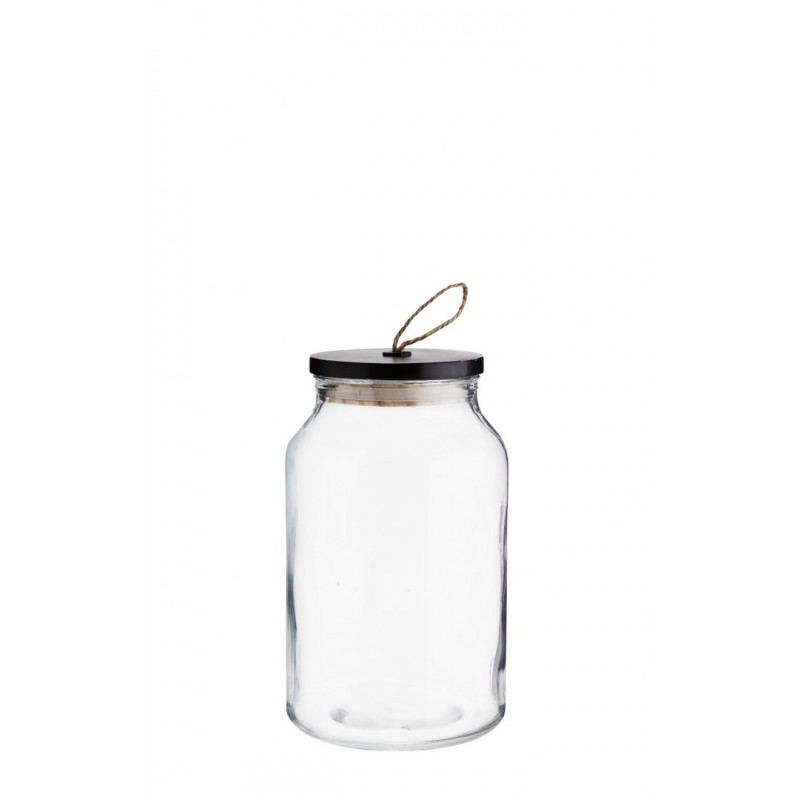 Glass jar w/ wooden lid