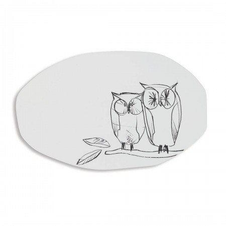serving plate Owl