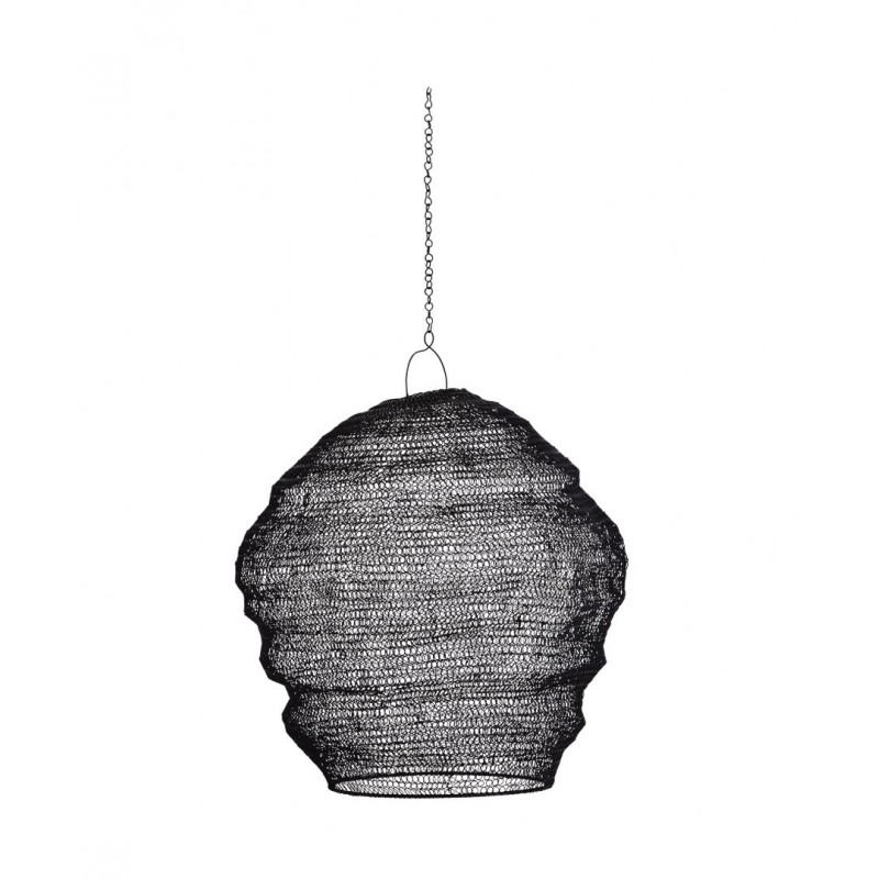 Knitted wire lamp shade