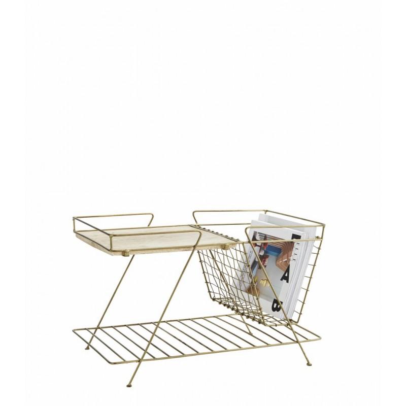 Magazine rack w/ wood