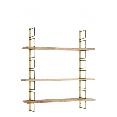 Wall rack w/ wooden shelves