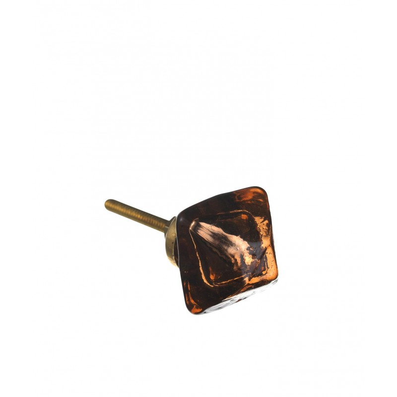 Glass knob, square