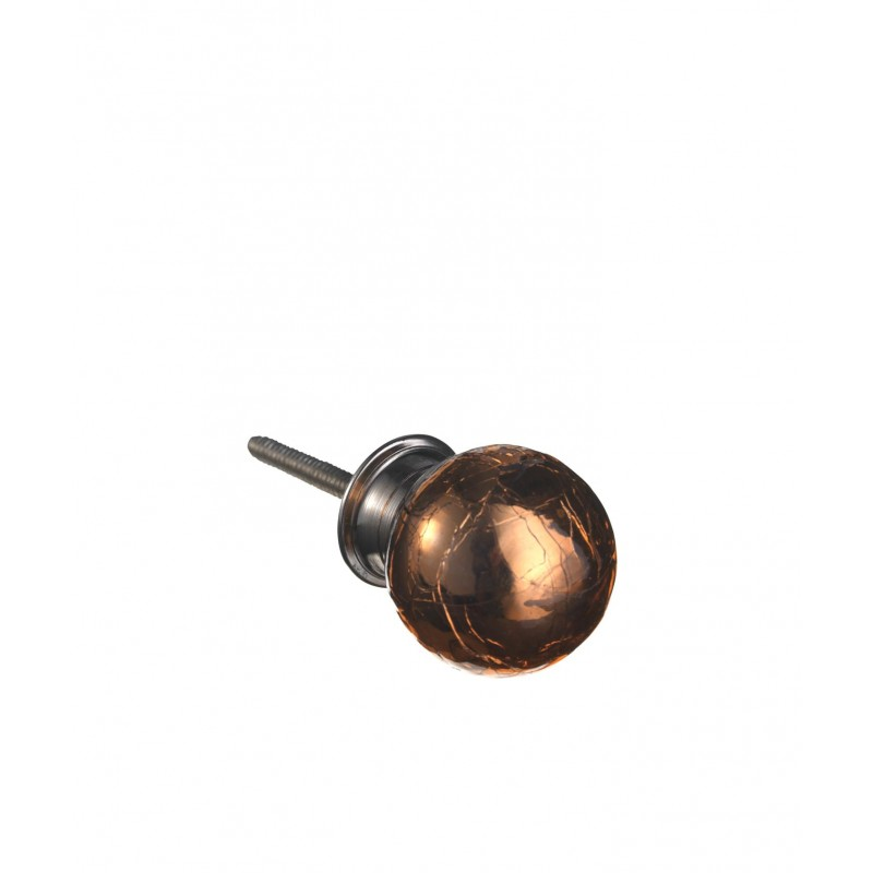 Glass knob, round