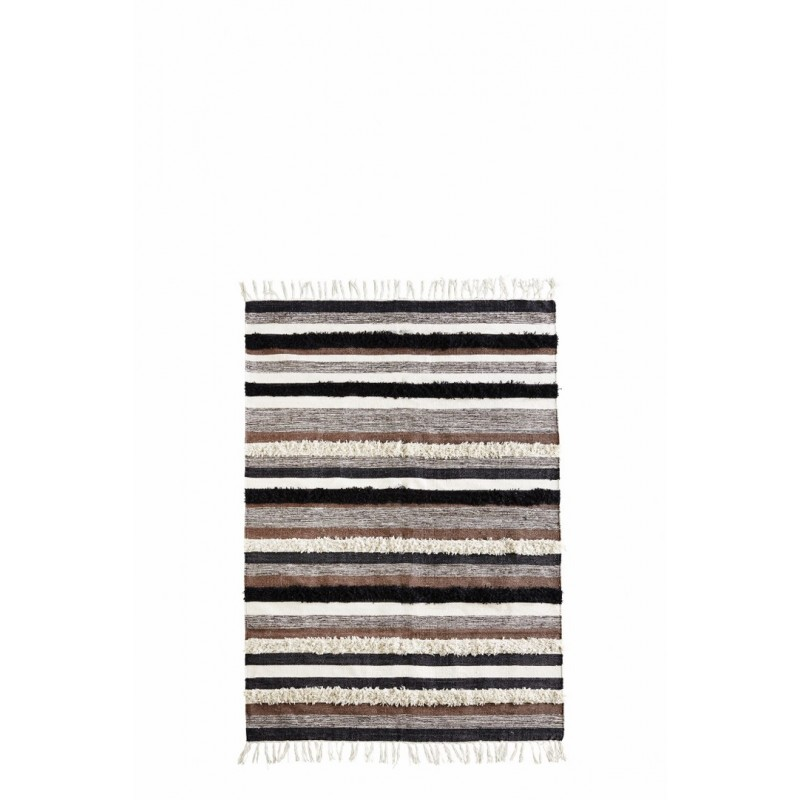 STRIPED RUG W/ FRINGES