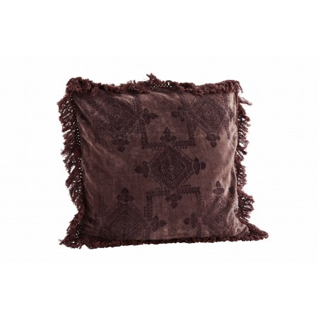 Velvet printed cushion cover