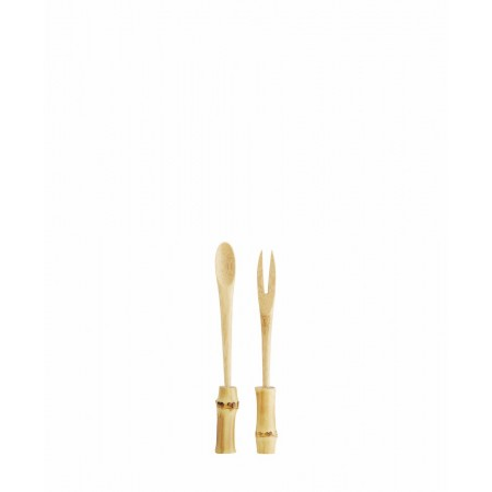 Bamboo spoon and fork