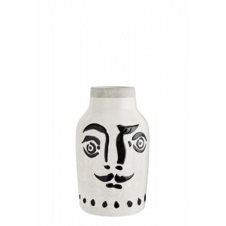 Stoneware vase w/ face