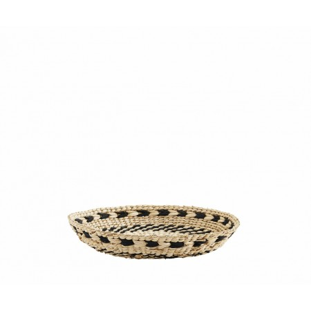 Round wicker tray