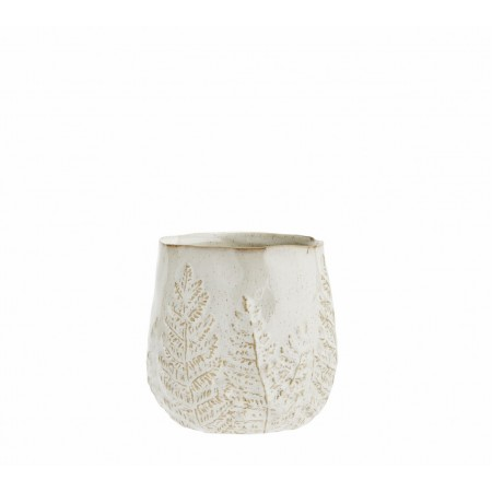Flower pot w/ leaf pattern