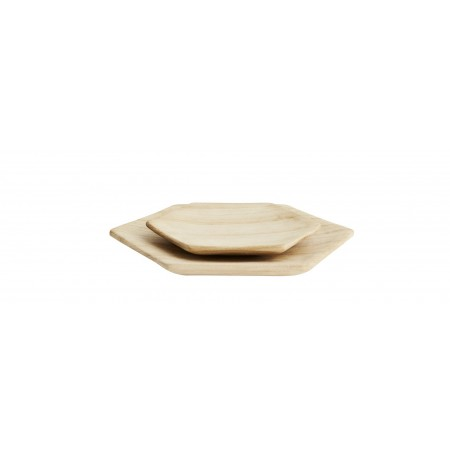 Hexagonal wooden plates